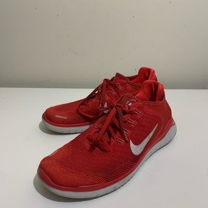 Nike free rn flyknit mens size 11 red